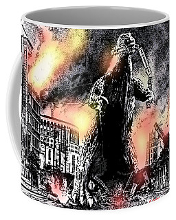There Goes Tokyo Coffee Mug by George Pedro