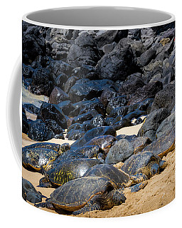 Coffee Mug featuring the photograph There Has Got To Be More Room On This Beach  by Jim Thompson