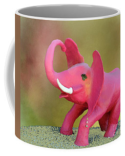 There Really Are Pink Elephants Coffee Mug by Myrna Bradshaw
