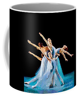 Coffee Mug featuring the painting They Danced by Catherine Lott