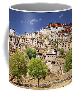 Coffee Mug featuring the photograph Thikse Monastery by Alexey Stiop