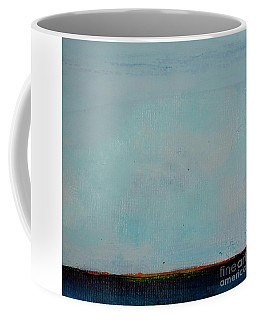 Coffee Mug featuring the painting Thin Orange Line by Kim Nelson