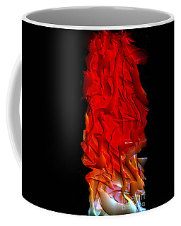 Coffee Mug featuring the digital art Things Are Getting Hot by Rafael Salazar
