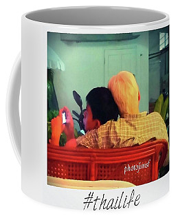 Coffee Mug featuring the photograph Thinking About Escaping Us by Mr Photojimsf