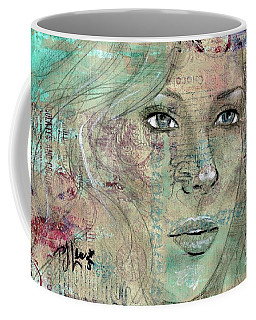 Coffee Mug featuring the drawing Thinking Back by P J Lewis