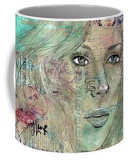 Thinking Back Coffee Mug by P J Lewis