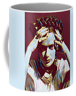 Thinking Frida Coffee Mug by Gary Grayson