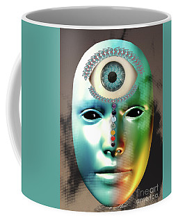 Coffee Mug featuring the digital art Third Eye by Melissa Messick