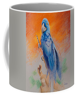 Coffee Mug featuring the painting This Bird Had Flown by Joe Winkler