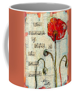 Coffee Mug featuring the painting This Eternal Moment by Carrie Joy Byrnes
