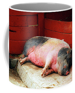 This Little Piggy Went To Sleep Coffee Mug by James Kirkikis