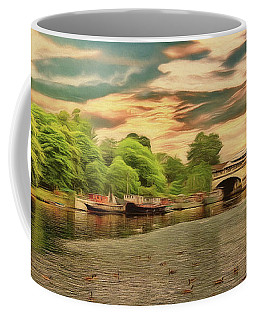 Coffee Mug featuring the photograph This Morning On The River by Leigh Kemp