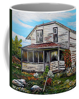 Coffee Mug featuring the painting This Old House 2 by Marilyn  McNish