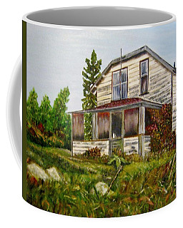 Coffee Mug featuring the painting This Old House by Marilyn  McNish