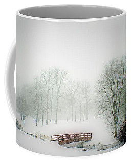 This Small Bridge, Located On A Golf Course, Always Provides A Scenic View. When A December Blizzard Coffee Mug