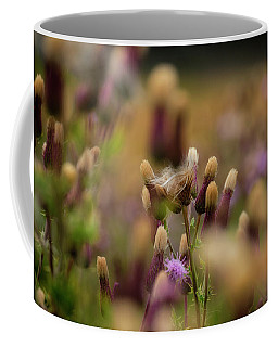 Coffee Mug featuring the photograph Thistle Babies by Jeremy Lavender Photography