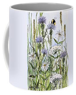 Thistles Daisies And Wildflowers Coffee Mug