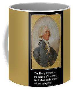 Thomas Jefferson Portrait With Free Press Quotation Coffee Mug by Aurelio Zucco
