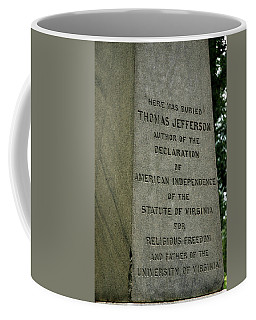 Thomas Jefferson Tombstone Close Up Coffee Mug