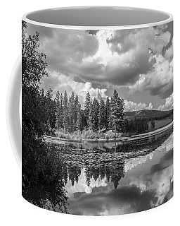 Thompson Lake In Black And White Coffee Mug
