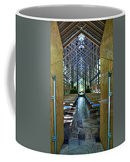 Coffee Mug featuring the photograph Thorncrown Chapel Entrance by Cricket Hackmann
