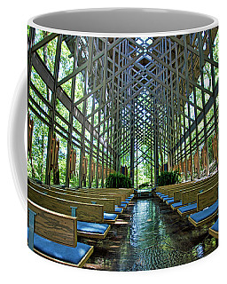 Coffee Mug featuring the photograph Thorncrown Chapel Interior by Cricket Hackmann