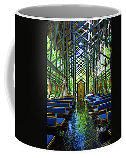 Coffee Mug featuring the photograph Thorncrown Chapel Serenity by Cricket Hackmann