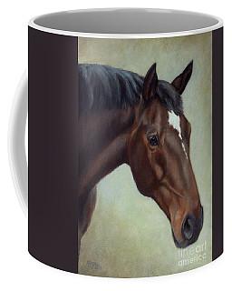 Thoroughbred Horse, Brown Bay Head Portrait Coffee Mug