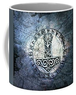 Thor's Viking Amulet Coffee Mug by Absinthe Art By Michelle LeAnn Scott