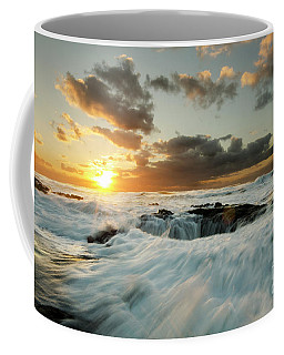 Coffee Mug featuring the photograph Thors Well Cape Perpetua 1 by Bob Christopher