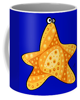 Coffee Mug featuring the painting Thoughts And Colors Series Starfish by Veronica Minozzi