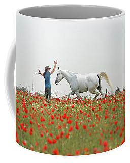 Three At The Poppies' Field Coffee Mug