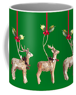 Three Birch Bark Reindeer Coffee Mug