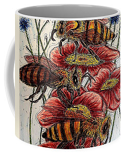 Three Busy Bees Coffee Mug