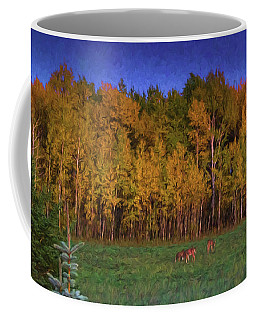 Three Deer And A Moon Coffee Mug