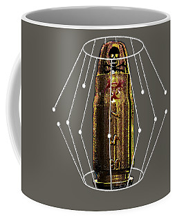 Coffee Mug featuring the digital art Three Fifty Seven Sig by Iowan Stone-Flowers