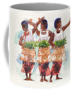 Three Fijian Dancers Coffee Mug