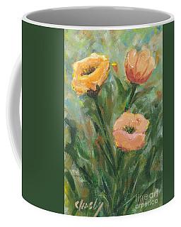 Three Flowers In Field Coffee Mug