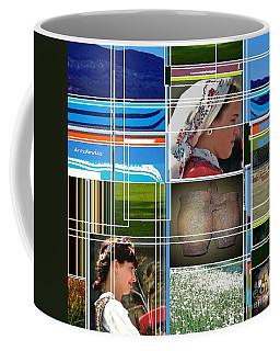 Three Girls Coffee Mug by Andrew Drozdowicz