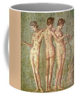 Three Graces, From Pompeii, Fresco, Roman, 1st Century Ad Coffee Mug