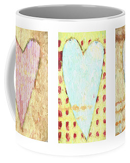 Three Hearts Triptych Coffee Mug