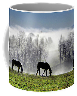 Three Horse Morning Coffee Mug