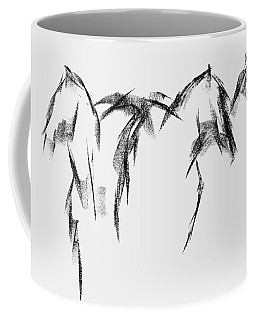 Coffee Mug featuring the painting Three Horse Sketch by Frances Marino
