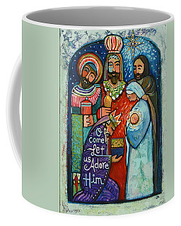 Three Kings O Come Let Us Adore Him Coffee Mug