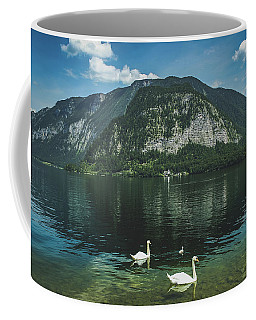 Three Lake Hallstatt Swans Coffee Mug