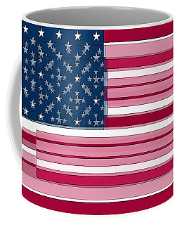 Three Layered Flag Coffee Mug by David Bridburg