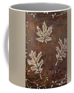 Coffee Mug featuring the painting Three Leaves by Patricia Cleasby