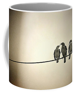 Three Little Birds Coffee Mug by Trish Mistric