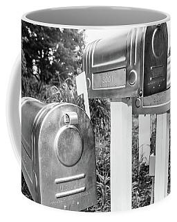 Three Mailboxes Coffee Mug