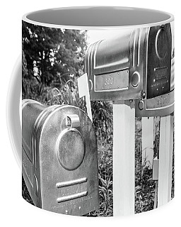 Three Mailboxes Coffee Mug